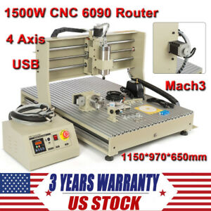 Usb 4 Axis 6090 Cnc Router Engraver 3d Drilling Milling Machine Wood