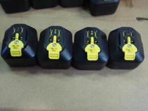 Lot Of 4 Stryker 6212 000 000 System 6 Small Battery Yellow Tab 9 6v