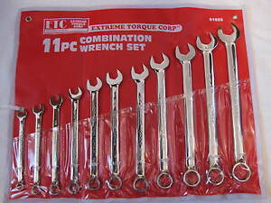 Six Point Extra Long Pattern Sae Combination Wrench Set 3 8 To 1 6 Point