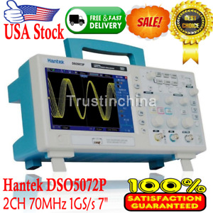 Hantek Dso5072p Digital Oscilloscope 2channels 70mhz 1gs s 7 Tft Wvga 800x480
