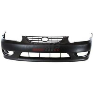 New Front Bumper Cover Primed Fits 2001 2002 Toyota Corolla 5211902908