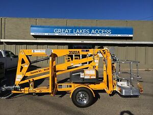 2017 Haulotte 3522a Towable Boom Lift Man 43 Height New Unit Made In Usa