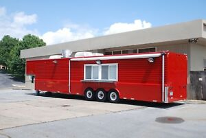 44 Food Concession Trailer Mobile Commercial Kitchen With Hood
