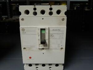 Ge Record Plus Fbn36te090rv 90a 3p 600v Circuit Breaker W Panel Connectors Used