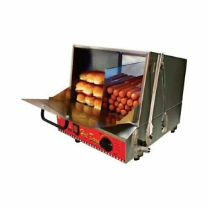 Hotdog Steamer Machine With Bun Warmer Tabletop Concession Vending Commercial