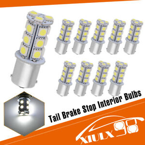 10x 6000k Bright White 1156 Ba15s 5050 Led Tail Brake Stop Lights Bulbs 1141 12v