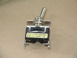 5pcs New Highly T 11bs 2 pin On off Toggle Switch 15a 250vac zmi