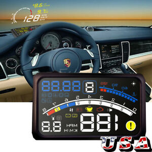 5 5 Car Hud Head Up Display Obd2 Obdii Speed Warning System Shift Reminder