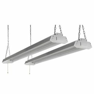 2x 4ft 5000lumens Led Bright Shop Light Home Worklight Fixture Lighting 5000k Oy