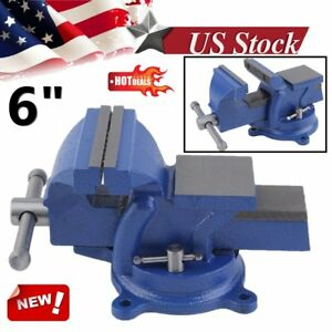 6 Inch Workbench Table 150mm Jaw Clamp Swivel Base Bench Vice Vise Heavy Duty Y