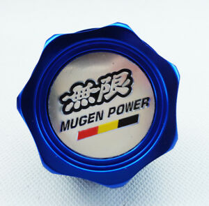Universal Blue Mugen Power Oil Filler Cap Filler Tank Cover Plug Racing Valve