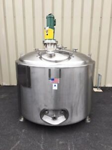 Precision Stainless 400 Gallon Jacketed Agitated Processor Tank Vessel Mixer