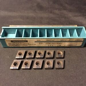 Ingersoll Cde322r02 111 Carbide Insert Chasers 10 set