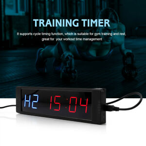 Dc 5v Programmable Crossfit Interval Timer Wall Clock W remote For Gym Fitness