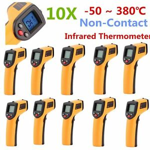 qty 10 58 626 Non contact Infrared Ir Digital Thermometer Temp Gun new Oy