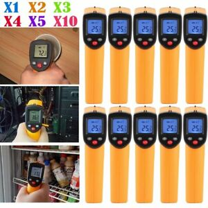 1 10x Lcd Non contact Ir Laser Infrared Digital Temperature Meter Thermometer Oy