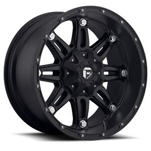 5 17 12 Fuel Hostage D531 Black Wheels Rims 5x4 5 Jeep Wrangler Tj Yj