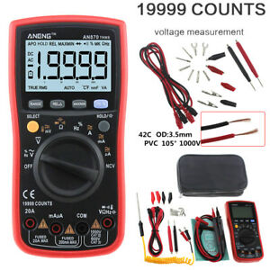 An870 19999 True rms Range Digital Multimeter Ncv Ohmmeter Ac dc Voltage Current