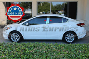 Fit 2014 2018 Kia Forte 4 Door Sedan 6pc Pillar Post Stainless Steel Trim