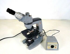 American Optical Ao 1036a Microscope W Eye Piece Objective Power Supply