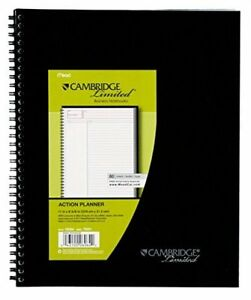 Mead Cambridge Limited Action Planner Business Notebook 06064 Pack Of 6