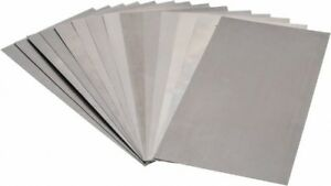 Made In Usa 15 Piece 0 001 To 0 031 Inch Thickness Steel Shim Stock Sheet A