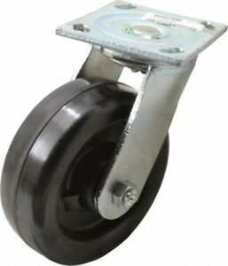 Glide Maxx 6 Inch Diameter X 2 Inch Wide Swivel Caster With Brake And Top Pl