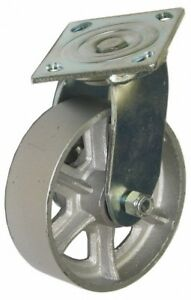 Glide Maxx 5 Inch Diameter X 2 Inch Wide Swivel Caster With Top Plate Mount