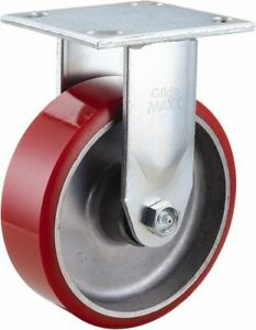 Glide Maxx 6 Inch Diameter X 2 Inch Wide Rigid Caster With Top Plate Mount 7