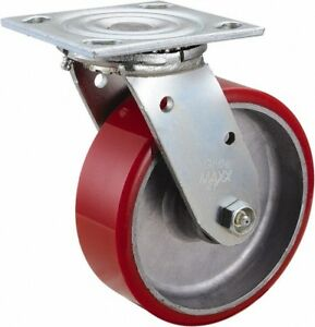 Glide Maxx 6 Inch Diameter X 2 Inch Wide Swivel Caster With Top Plate Mount