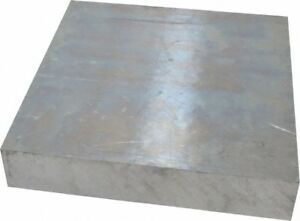 Value Collection 1 1 2 Inch Thick X 8 Inch Wide X 8 Inch Long Aluminum Plate