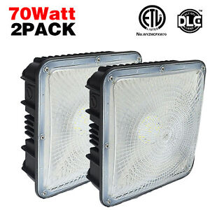 Etl Led Gas Station Canopy Fixture 45w 70w Replace 250w 400w Mh Light 5500kwhite