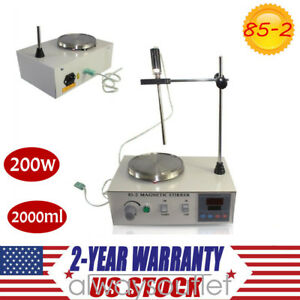2000ml Magnetic Stirrer With Heating Plate Hotplate Mixer Digital Display 110v