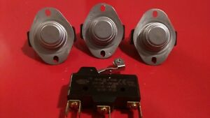 Cissell Dryer Controls Set thermostat High Limit Switch Sail Switch