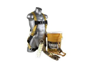 Fall Protection Kit Lanyard Anchor Safety Harness Rope Guardian Safe Tie Bucket