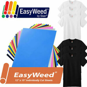 12 color Kit 12 X 15 Siser Easyweed Heat Transfer Vinyl Htv 6 Blank T shirt