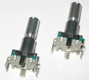 2 X Alps Rotary Encoder W Momentary Switch 30 Detent 360 Degrees Pc Board