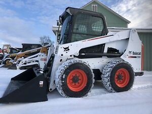 2014 Bobcat S630 Skid Steer Loader Enclosed Cab Heat Great To Plow Snow