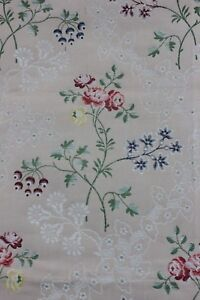 Vintage French Lampas Brocade Cotton Sample Fabric C1930 40 In Style Of 18thc