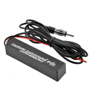 Car Stereo Radio Electronic Hidden Antenna Aerial Fm Am Amplified 12v Universal