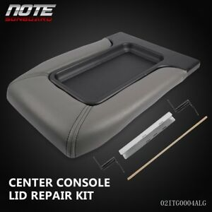 Center Console Lid Kit Arm Rest Latch For 1999 2007 Gm Chevy Oem Part Light Grey