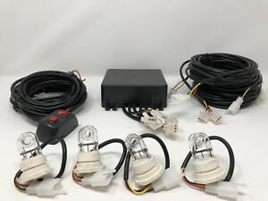 120w 8 Led Hide A Way Emergency Hazard Warning Strobe Light System Kit