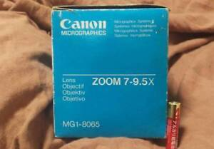 Canon Micrographics Microfilm Scanner Zoom Lense Mg1 8065 Zoom 7 9 5x A58