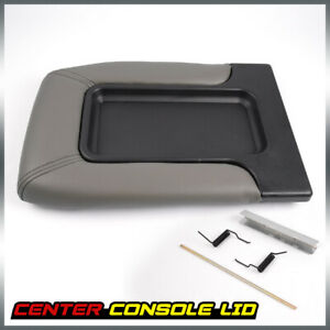 Center Console For 99 07 Chevy Silverado Gm Part Lid Arm Rest Latch Light Grey