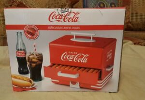 Hot Dog Warmer Steamer Vintage Retro Electric Cooker Machine Bun Coca cola