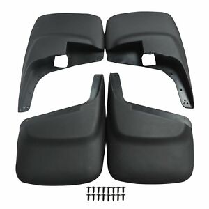 For 99 10 F250 F350 Ford 4pc Molded Splash Guards Mud Flaps W O Wheel Lips Set