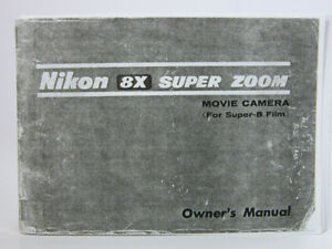 nikon 8x super zoom super 8 movie camera