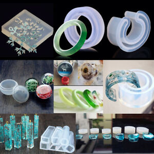 Clear Silicone Mold Making Jewelry Pendant Resin Casting Mould Craft DIY Tool
