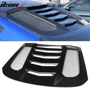 Fits 15 17 Ford Mustang Ikon V2 Style Window Louver Visors Guards Abs