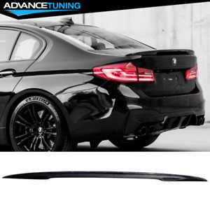 Fits 17 20 Bmw G30 5 Series M Style Trunk Spoiler Wing Carbon Fiber